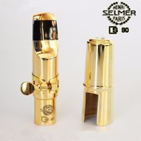 Wholesale Alto Sax Mouthpieces - France Selmer S90 metal mouthpiece alto sax Tenor Soprano Saxophone mouthpiece professional grade Free shipping