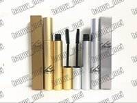 Бесплатная доставка ePacket New Makeup Lips Silver / Gold Box Lash Mascara Waterproof Mascara с коробкой! Черный