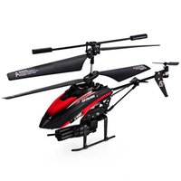 Wholesale Gyro Infrared Control Rc Helicopter - V398 Missile Launching Built-in Gyro Infrared RC Helicopter 3.5 Channel Remote Control Helicogyro With Gyro Green Red