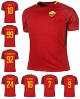Wholesale Football Specials - 2017 2018 ROME soccer jersey 17 18 ROME TOTTI special DE ROSSI DZEKO EL SHAARAWY home football shirt