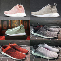 Wholesale Woman Leather Socks - 2017 NMD_CS2 PK Runner City Sock Nmd Cs2 CS 2 Men Women Classic Running Shoes Fashion City Sock Cs2 Primeknit Sports shoes Sneaker