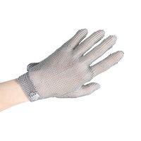 metall-mesh-kette großhandel-M Chain Edelstahl Mesh Metall Mesh Butcher Anti-Cutting Handschuhe Fünf Finger Stahl Herd Armbänder Handschuhe Arbeit Sicherheitshandschuhe