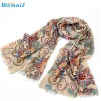 Wholesale elegant winter scarf woman - Wholesale- Dec 24 Elegant Nobility 170cm*80cm Vintage Autumn Winter Scarves Women Ladies Scarf Wrap Shawl 2016 New