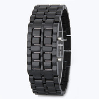 Wholesale Led Chain Watches - Foreign trade hot spot LED lava lava chain table watches wholesale lava table