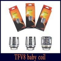Wholesale Engine Mini - SMOK TFV8 Baby Coil Head Replacment T6 T8 X4 Q2 M2Beast Coil Engine Core for H PRIV Mini 50w Kit DHL free 02