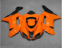 Wholesale kawasaki ninja 636 fairing parts - New Bodywork ABS fairing kits set orange black for ZX6R fairings 2007 2008 Ninja 636 ZX-6R 07 08 Plastic parts orange black
