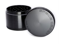 Wholesale space case grinder wholesale online - New Arrival Hot SpaceCase Herb Grinder High Quality Aluminum Alloy Space Case Tobacco Grinder Black MM Burnisher