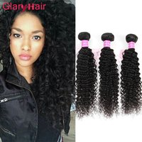 Glary Hair Products Mink Brazilian Kinky Curly Virgin Hair Bundle offres Mongolie Kinky Curly Human Hair Weave Extensions 6 pièces Article de mode