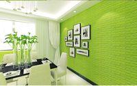 Wholesale adhesive decorative wallpaper - 77cmx70cmx10mm PE waterproof 3D wallpaper sticker home decoration 3D wall stickers waterproof 3d paper decorative sticker