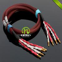 Wholesale Banana Plug Hifi - hifi audio HIFI speaker cable with Japan origin speaker line copper Gold-plated bananas plug size 2.5M DIY