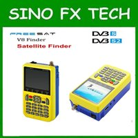 Wholesale Handheld Satellite - 2pcs hot sell freesat v8 finder 3.5 inch LCD satFinder DVB-S2 Handheld satellite Finder freesat v8 finder