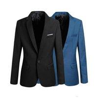 Wholesale Blue Blazer Sale - Hot Sale Casual Blazer Business Men's Suit Slim Fit Jacket Suits Wedding Tuxedos Masculine Blazer Formal Suit Jacket