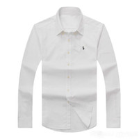 Großhandel Marke Polo-kleidung Kaufen -2018 großhandel billig herbst und winter herren langärmelige dress shirt reiner männer casual polo hemd oxford shirt social marke clothing