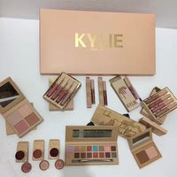 Wholesale Popular Eye Shadow - The most popular Kylie pack 11pcs = 1set, lip gloss, high light eye shadow to meet the goddess of life necessary artifact