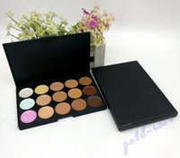 Wholesale Cream Plates - HOT Makeup Face Concealer Professional 15 color Concealer plate+FREE GIFT