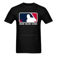 Men black discount t shirts - Men Negan Major League T Shirt Big Discount Cotton Short Sleeve Men s T Shirts New Trendy Men T Shirts