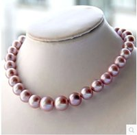 Wholesale Natural Round Tahitian Pearl - Natural Tahitian black pearl necklace pearl powder necklace is round very light no time necklace sweater chain