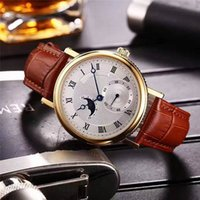 Wholesale Official Brand - 2017 New Original Official Luxury Mens Watches Imported Automatic Mechanical Movement Moon Phase 316L Stainless Steel Brand Wristwatch