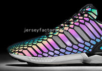 Wholesale Star Light Floor - (With Box) cheap new The chameleon men's and women's shoes ZX FLUX XENO new all-star reflective black snake spirit leisure shoes size 36-44