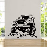 Wholesale Army Wall Sticker - Hot Sale Cool Graphics Offroad Army Cool Boys Bedroom Cod Wall Art Stickers Decals Vinyl Home Room Creative DIY