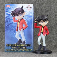 Frete Grátis New arrival 18cm Detective Conan Red Suit LUPINE the 3rd vs Detective Conan o filme PVC Action Figure Collection Model Toy