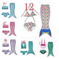 Wholesale Child Girl Suit Design - Girls mermaid tail Bikini Fashion Tail Swimsuit 20 Design children Bikini Bathing Suit Swimsuit Beach Wear Swimming