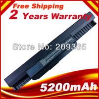 Wholesale Asus X54h Laptop - Wholesale- A41-K53 A32-K53 6 cells K53 battery for ASUS X54C X54H X54HR X54HY X54L X54LY Laptop