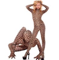 Wholesale Sexy Tiger - COSPLAY leopard tiger pattern zebra performance stage clothing Laika spandex sexy all-inclusive tights zentai
