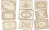 Wholesale Wedding Invitations Brown Card - Custom personalized RSVP card 5.5*4 inches (140*100mm), single-side color printing, free envelope, any text and any font