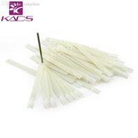 Wholesale Ivory White Clear Plastic Flase Nail Art Display Practice Fan Board For Professional Nail Art Show