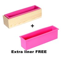 Wholesale Cake Tool Box - Cold Soap Mold Hand Soap Silicone Toast Mold With Wooden Box Silicone Soap Mold Belt Cover DIY Tools Toast Loaf Baking Cake Molds 1.2 kg