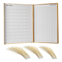 Wholesale Nail Tips Display Color Chart - MAKARTT Professional Nail Color Book Card 308 216 120 Colors Golden Nail Tip Display Charts for Nail Art and Salon