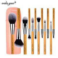 Wholesale Cheek Piece - Vela .Yue Makeup Brush Set 12 Pieces Cruelty Free Full Function Face Cheek Eyes Lips Beauty Tools Kit with Case 12pcs