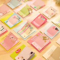 Wholesale Cheap Sticky Notes - Wholesale- 1PC lot New Cute Cartoon 9 series message Notepad cheap Sticky note Note pads Memo Writing scratch pad office school supplies