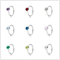 Wholesale Colour Heart - 12 Colours Droplet Birthstone Ring,925 Sterling Silver Wedding Rings Jewelry Factory Wholesale Free Shipping