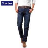 Wholesale Mens Casual Business Jeans - Wholesale- 2017 Spring Summer Slim Fit Men's Jeans Plus Size Mens Pants Casual Business Men Jeans Hot Sale Denim Mans Pants Vaqueros Hombre