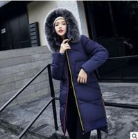 Wholesale Women S Clothing Winter Large - Large size women 's new cotton women' s long section of winter feathers cotton clothes European and American wind rabbit fur collar jacket
