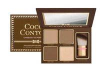 Wholesale High Fashion Brands Makeup - Dorpshipping Hot Fashion COCOA Ctour Kit 4 Ccolors eyeshadow face Makeup With the Brushes Too High Brand Fashion Makeup