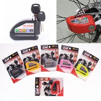 Wholesale Electric Lock Motorcycle - Security Protect Motorbike Motorcycle Anti Thief Electric Bike Scooter Wheel Disc Brake Alarm Lock Zinc Alloy Siren Lock MOT_50I