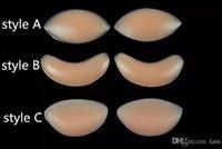 вставить силиконовые грудные усилители оптовых-Грудь Pad Куриное филе силиконовые груди усилители бюстгальтер вставить Pad мешок OPP пакет силиконовые груди pad