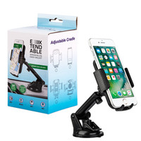 Wholesale Galaxy Car Cradle - Universal Clip Car Holder Phone Windshield Dashboard Mount Bracket Sucker Potable Adjustable Cradle for iPhone Samsung Galaxy HTC
