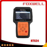 Wholesale Engine Airbag Abs - 2017 Foxwell NT624 AutoMaster Pro All Makes All Systems Scanner NT624 Engine Transmission ABS Airbag OBD2 Diagnostic Tool
