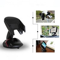 Wholesale Car Vent Cup Holders - Universal Cellphone Car Mount Holder Vent Desktop Bracket Stands With Strong Suction Cup 360 Degree Rotation For Cell Phone iphone 7