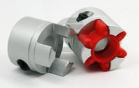aranha flexível venda por atacado-Conector do acoplador do eixo da ameixa da aranha da maxila Conector do acoplamento da ameixa D = 55mm L = 67mm Furo interno 12 a 30mm 12.7 / 19 acoplamento flexível em forma de ameixa