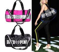 Wholesale Wholesale Men Carry - Pink Duffel Bag gym travel carry tote Vs Ladies Women Men Secret Travel Bag Waterproof Famous Brand Beach Bags KKA1454