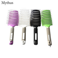 Wholesale Hair Dryers Combs - New Design Detangling Curved Hair Comb ,Faster Drying Styling Hair Brush,Lady Vent Hair Brush With Magnet Handle