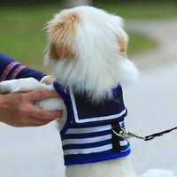 Wholesale led dog clothes for sale - Group buy Cute Adjustable Dog Chest Navy Vests Harness Vest Outdoor Walking Pet Lead Leash Dog Sailor Costume Clothes Pet Dog Supplies