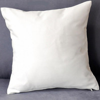 50pcs All Sizes plain white natural pure cotton twill pillow cover with hidden zip for custom DIY print blank 200GSM cotton cushion cover