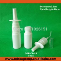 Wholesale Hdpe Bottles - Pharmaceutical Medical Grade 50Sets lot 1 3oz 10ml HDPE Plastic Nasal Spray Pumps Bottle, Oral Nasal Atomizers Spray Applicators