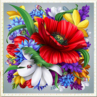 Wholesale Oil Painting Single Flowers - YGS-580 DIY 5D Partial Diamond Embroider The Flowers Round Diamond Painting Cross Stitch Kits Diamond Mosaic Home Decoration